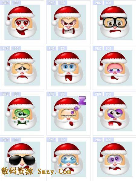 动漫版圣诞老人肖像图标素材