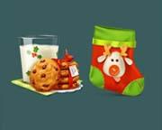 动漫风格圣诞元素图标素材