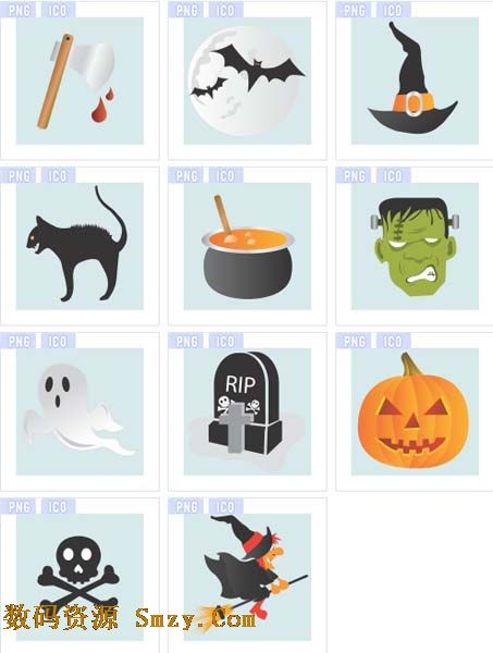 推荐软件:可爱卡通水果图标素材 恐怖色彩图案图标素材汇集了多种可怕