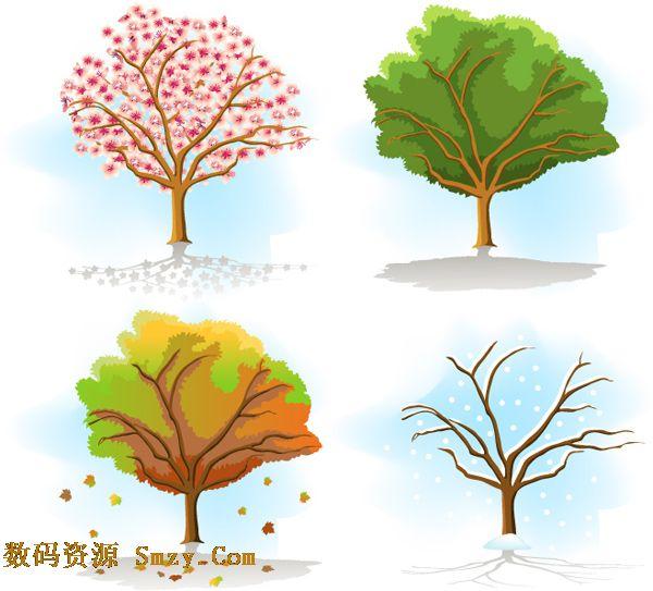 四季树木图片矢量素材