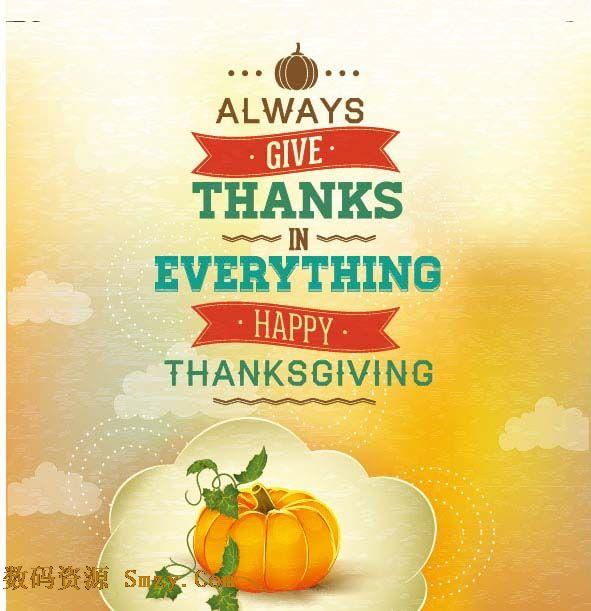 感恩节海报设计矢量素材