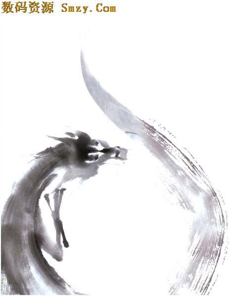 简画水墨中国龙高清图片下载- 2400×3000 - 数