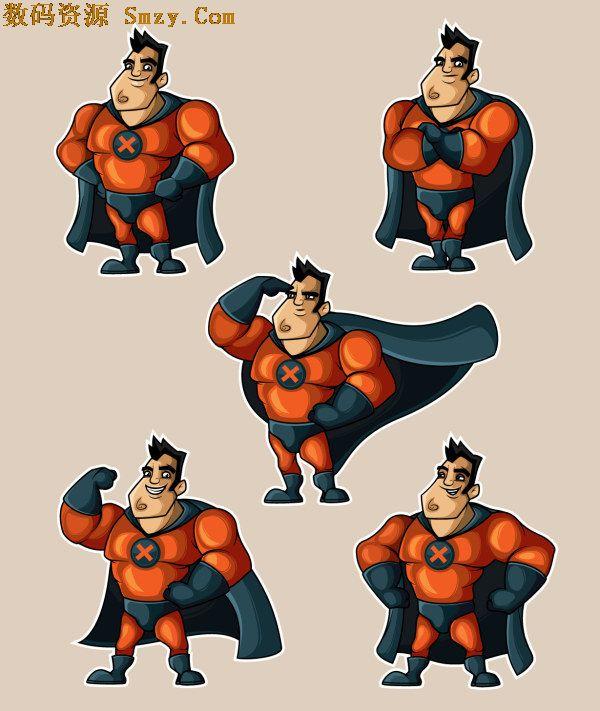 中设计的无敌人物,是小朋友心中最伟大的存在,因此超人大都被卡通化图片