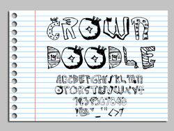 新颖手绘风格英文字体图片