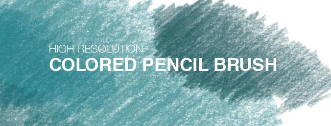 Photoshop彩色铅笔笔刷下载