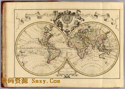 古代世界地图高清素材