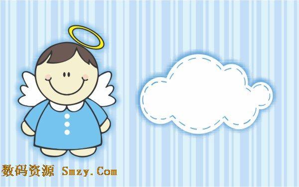 卡通微笑天使图片矢量素材