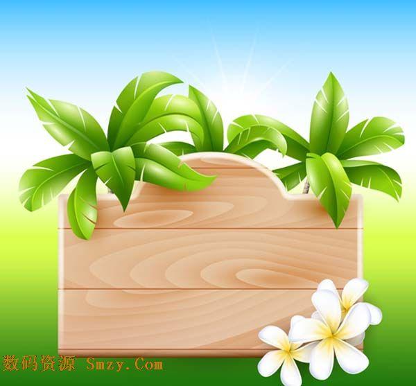 木质提示板图片矢量素材