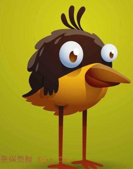 另类卡通小鸟图片矢量素材