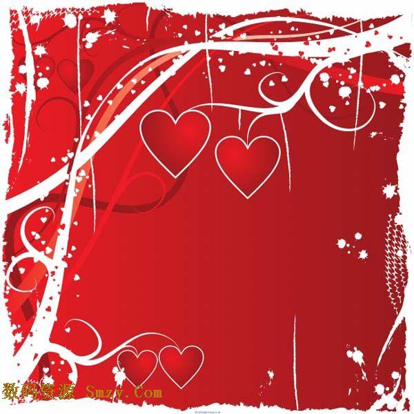 浪漫红色心形背景高清图片