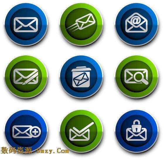 邮件时常用的联络方式,网上营销人员必备的工具。邮件图标矢量素材是一张展示邮件各种发送形式显示的图标状态,标志包括收件箱,发送邮件,写邮件,邮件垃圾箱,查看邮件,发送成功等,详情请见如下JPG缩略图,欢迎下载收藏!