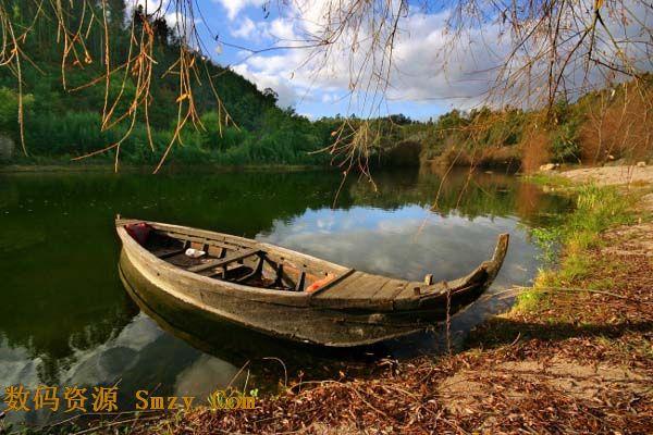唯美山水小船风景高清图片 界面预览 - 数码资源网