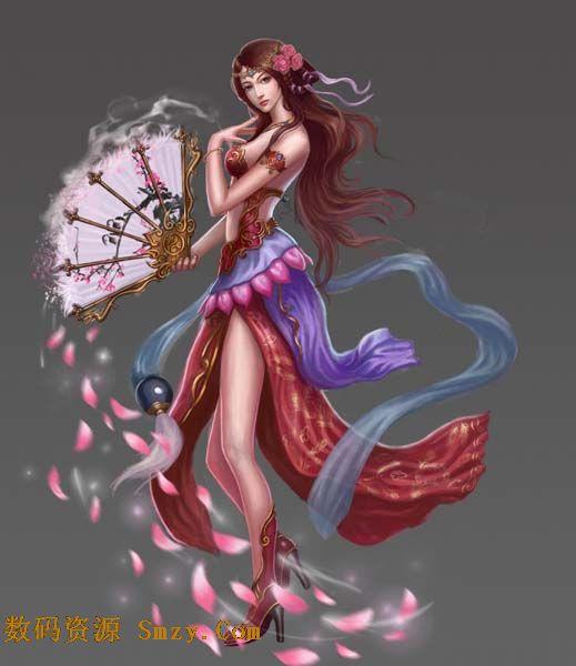 这张妖艳动漫美女高清图片这是展示了此类风格,身材妖娆的美女冷艳示
