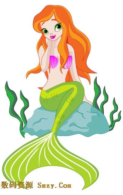 动漫美人鱼图片矢量素材就是可爱美人鱼形象