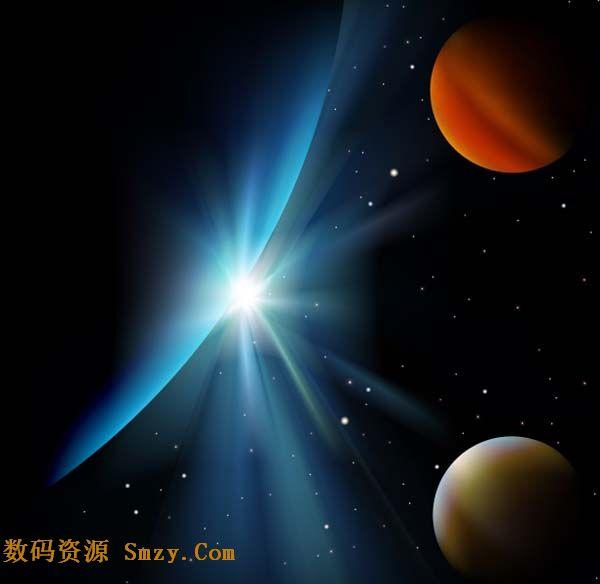 宇宙星空图片矢量素材