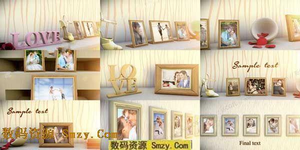 视频模板 ae模板 > ae婚礼相册模板下载  这是一个具有3d家居风格设计图片