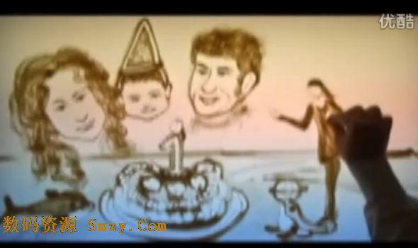 会声会影x5相册模板 母亲节献礼沙画背景视频模板