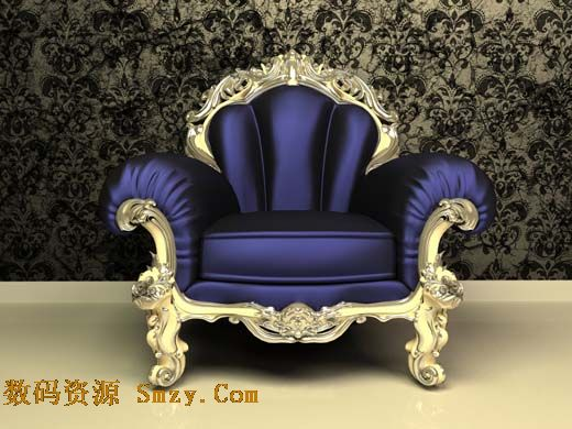 欧式紫红色沙发图片