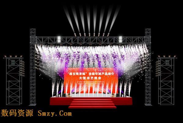 庆典会场舞台背景设计psd素材下载 - 数码资源网手机版