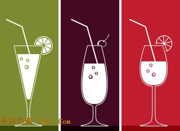 生活中消费品太多种类,食品中有这样一类非常受欢迎,这就是饮料,经常见到的是瓶装,杯状,罐装等,手绘线稿饮料杯图片矢量素材展示的就是不同样式的玻璃杯容器,都是高脚杯样式,不同的是杯型,三角形,窄口型,相同的是都插上了饮料吸管,还有象征水果的切片,详细见JPG缩略图,欢迎下载收藏!