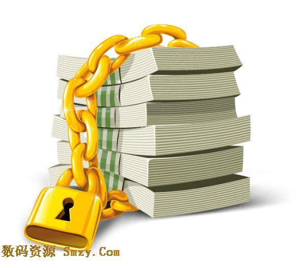 钞票,也叫做纸币,就是现实中最熟悉的钱币,金钱是生活中不可或缺的,俗话常说,钱不是万能的,没有钱是万万不能的,创意锁链钞票图片矢量素材向大家展示的是成捆的钱层叠放在一起,外面用金色的锁链和锁头牢牢绑定住,锁头固然耀眼,但是吸引人们的依旧是金钱,详细见JPG缩略图,欢迎下载收藏!