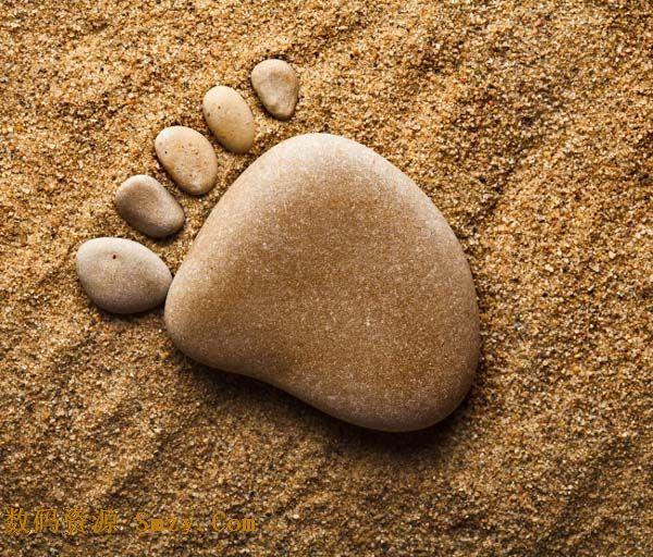 创意就形成了脚印的形状