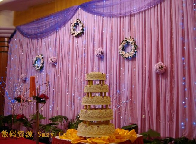 婚礼温馨背景墙设计高清图片