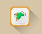铅笔日记本设计的图标PSD素材