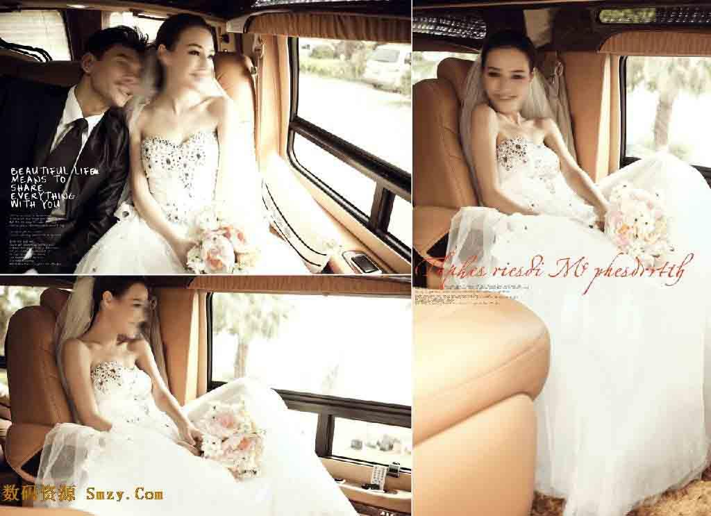 婚纱设计模板 森林婚礼