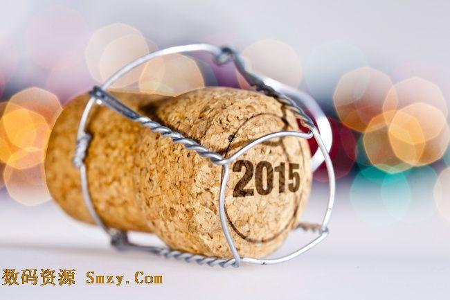 2015新年红酒木塞高清图片