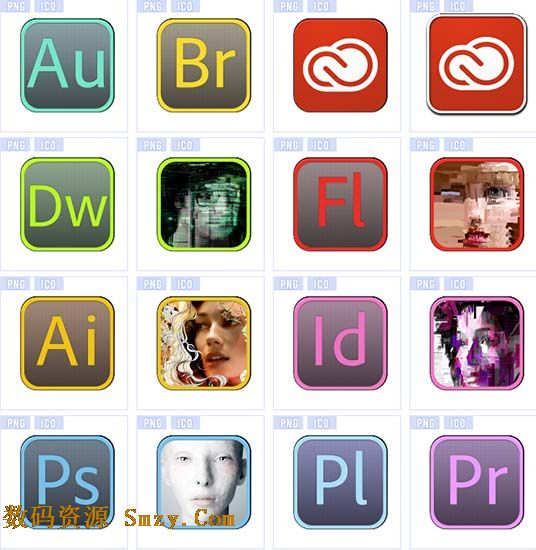 Adobe cs6系列软件图标