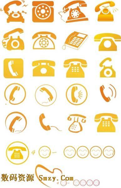 座机电话图标素材下载