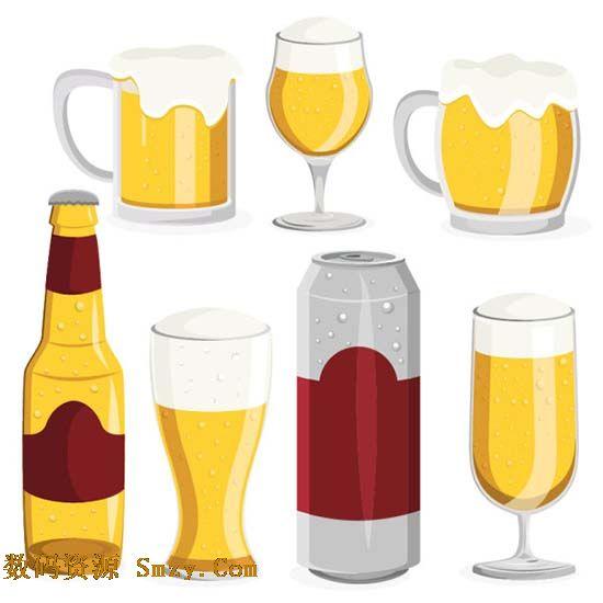 卡通啤酒杯矢量素材
