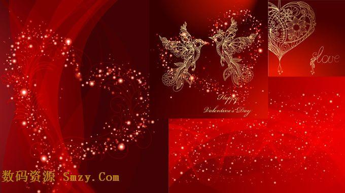 这张 时尚光点情人节背景矢量素材将喜庆的红色作为背景颜色,用光点