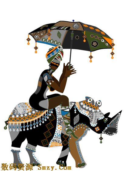非洲民族风花纹图片矢量素材