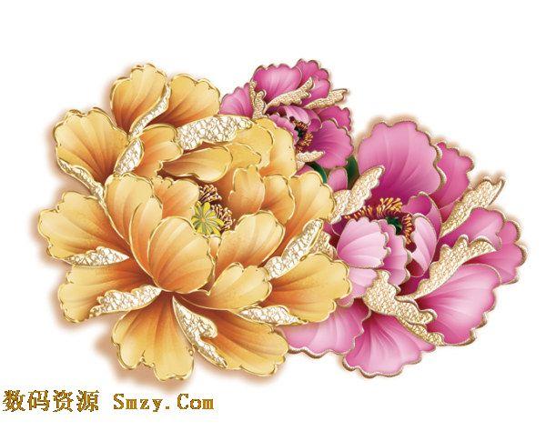 金色是高贵的颜色,牡丹的事高贵的花朵,当他们组合在一起就是最奢华的选择,这张高贵典雅金边牡丹花PSD素材向我们展示的就是一种牡丹的装饰花卉,不同颜色的花朵都在花瓣周围镶有金边,典雅高贵,详细还请见JPG缩略图,欢迎喜欢的朋友点击下载收藏!