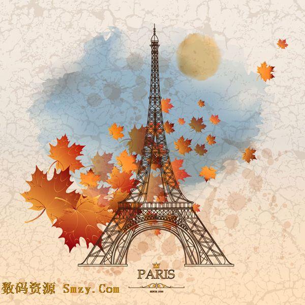 法国巴黎埃菲尔铁塔平面