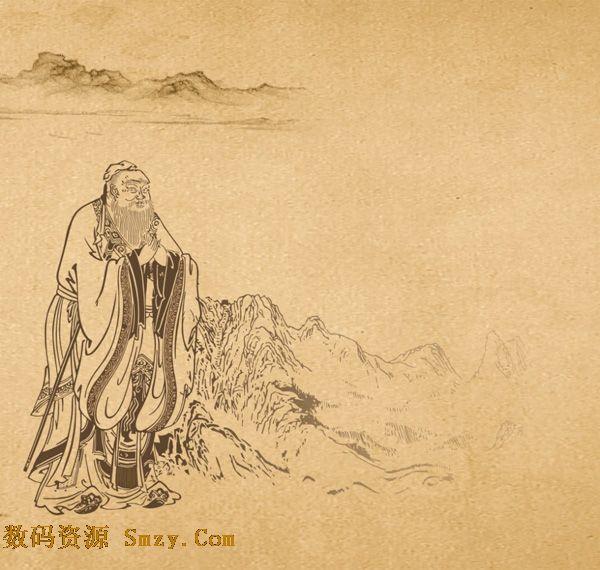 手绘传统古代诗人矢量素材