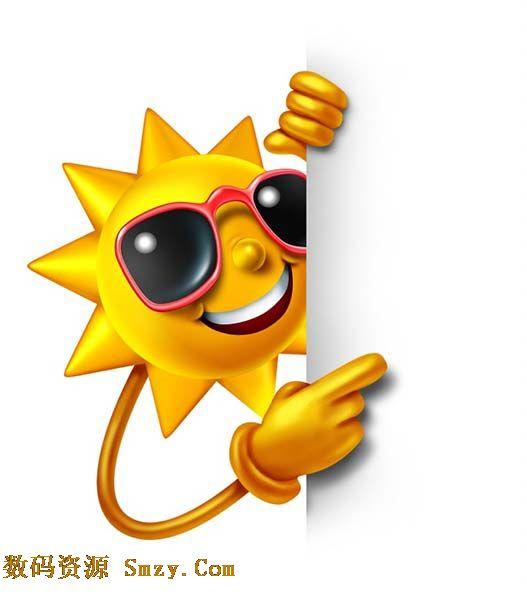 卡通墨镜太阳表情高清图片
