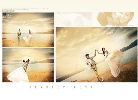 婚纱照相册模板 完美爱恋