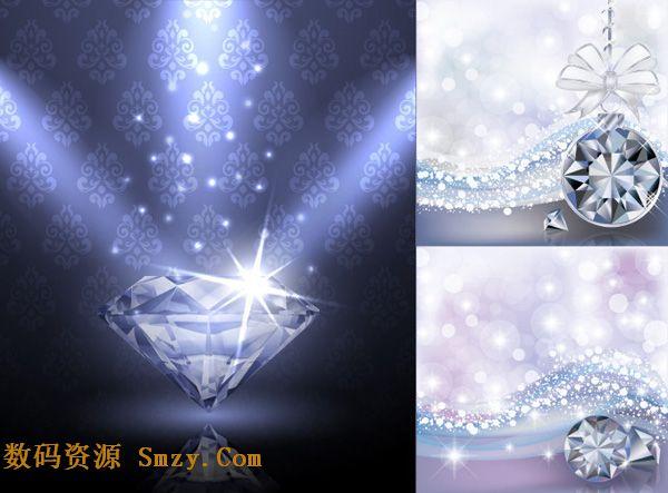 星光璀璨钻石闪耀背景矢量素材