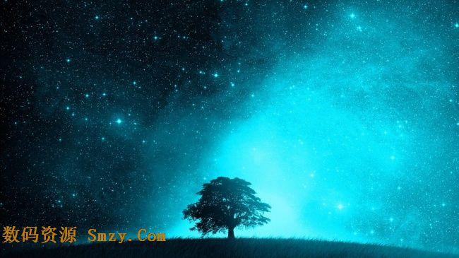 唯美夜空繁星背景高清图片下载
