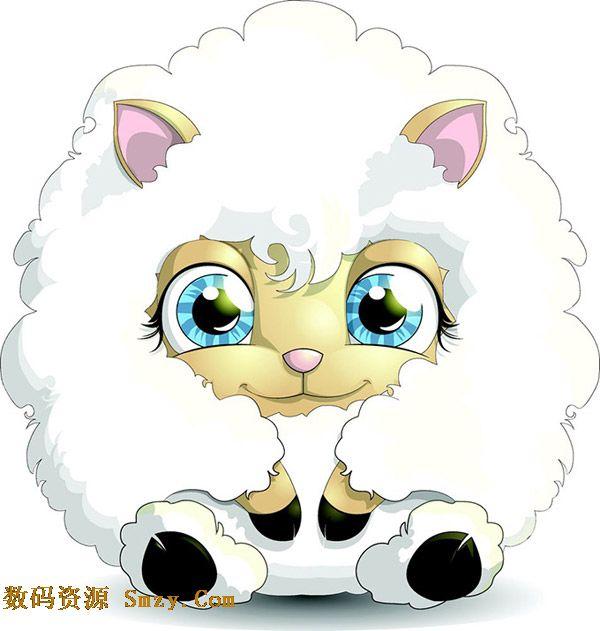 小羊的耳朵简笔画图片