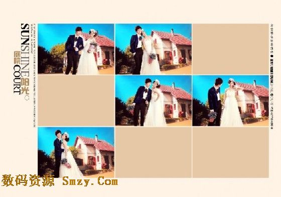 婚纱照相册模板 阳光庭院 6