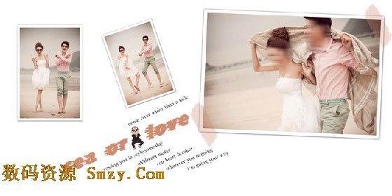 婚纱设计模板夏日的风 1