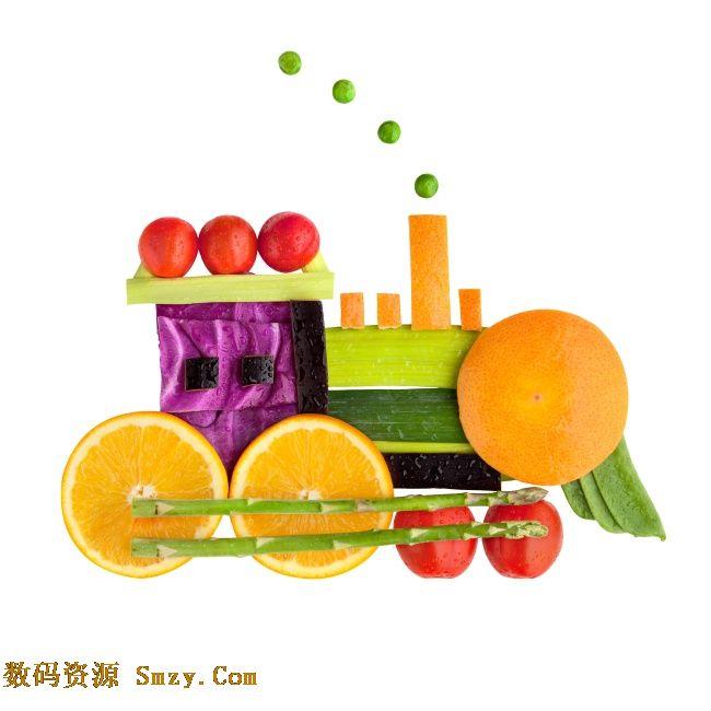 蔬菜水果创意手工制作高清图片