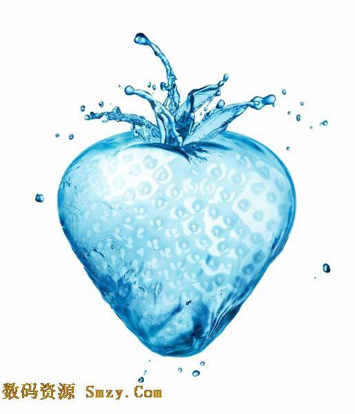 精美图片 设计 > 创意水花草莓设计高清图片下载  关于水元素的设计图片