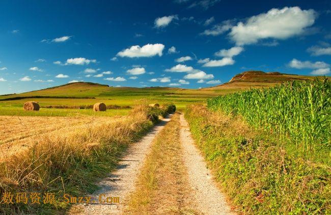 唯美意境田野秋季收获景色高清图片下载 6584x4280