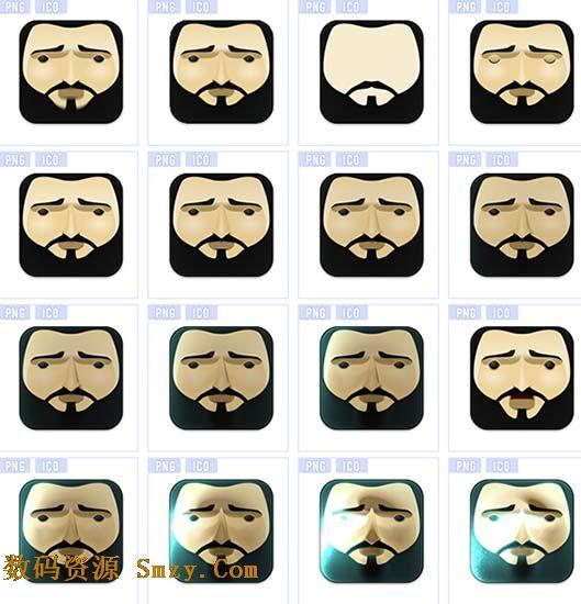 胡子是男人的象征,是性感的代名词,这里为你准备的是男人头像胡子图标素材,全部采用成熟男性的头像做主体,特点是胡须,再加上不同表情的搭配设计而成,现在为你奉上36张高清PNG和ICO格式图标,欢迎需要的你们点击下载收藏!