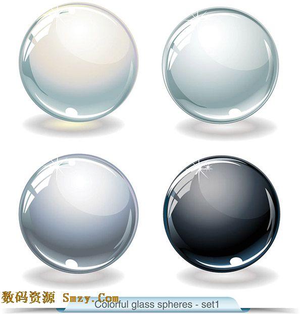 精美质感水晶按钮设计矢量素材